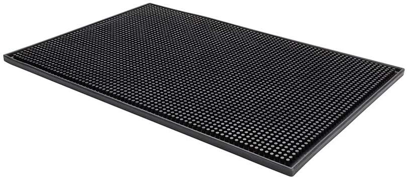 Black Rubber Service Mat