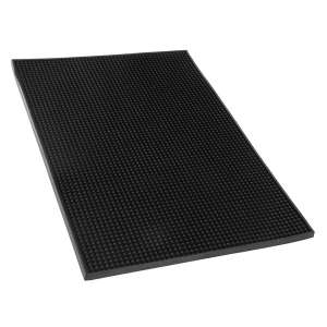 Black Rubber Service Mat