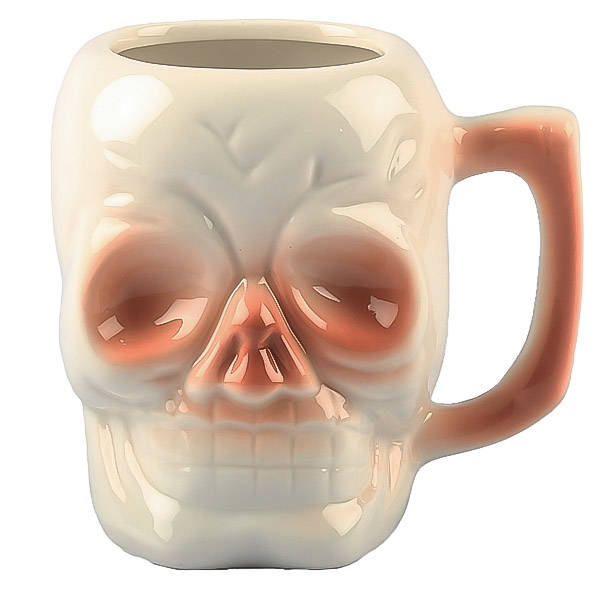 Skull Ceramic Tiki Mug with Handle- BarPros