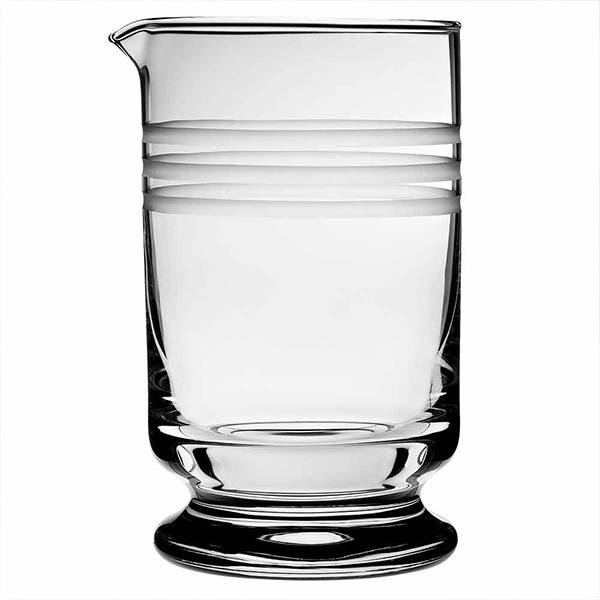 Calabrese Footed Mixing Glass 3 Cuts