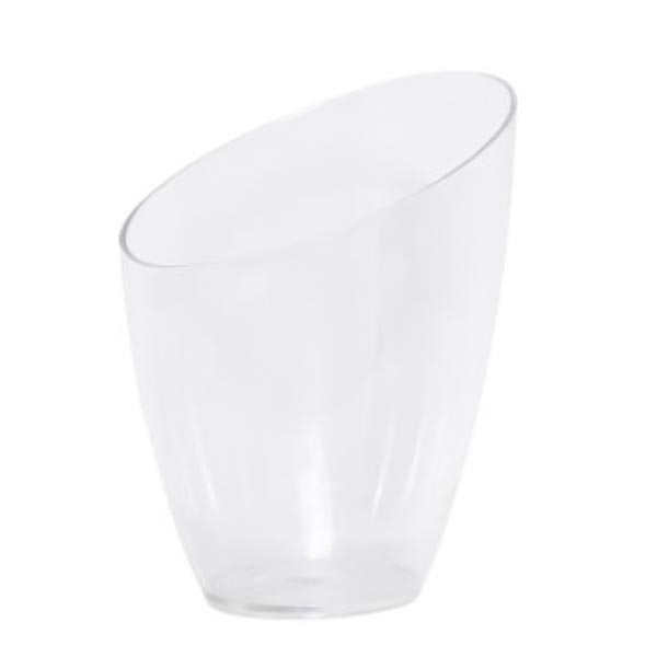 Small table ice bucket with sloping top