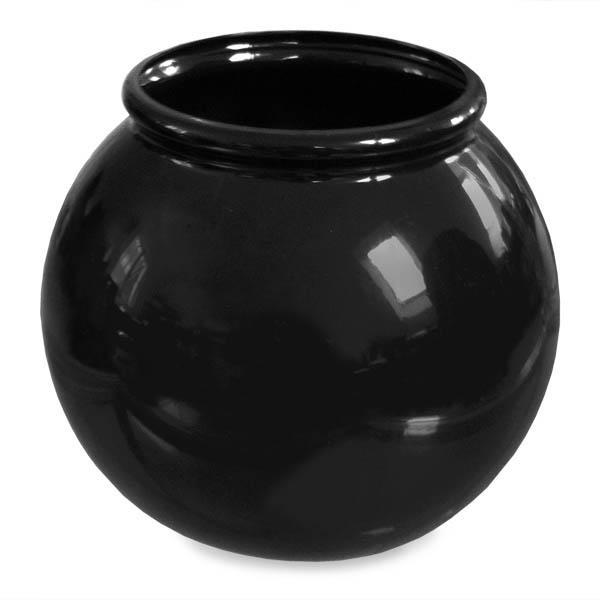 Plastic Fish Bowl Black Acrylic 12 x 17 cm