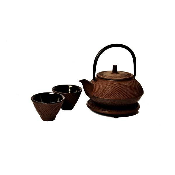 Traditional Round Tetsubin Cast Iron Tea Set 50cl