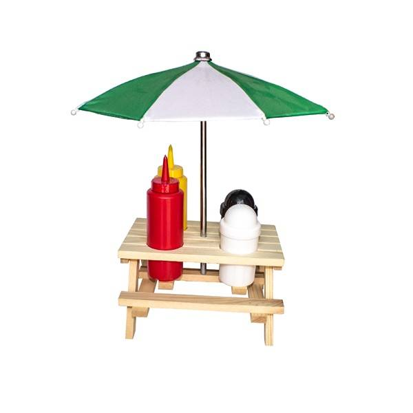 Picnic Bench Condiment Holder