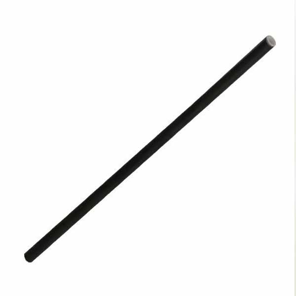 6mmx230mm Black Matte Paper Straw