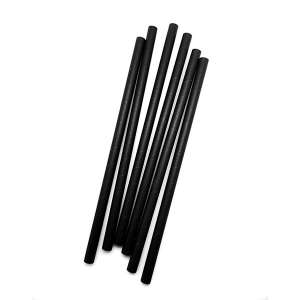 10mmx230mm Black Matte Paper Straw