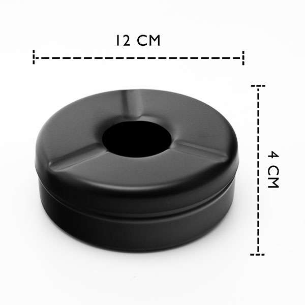 Stainless Steel Black Matte Windproof Ashtray