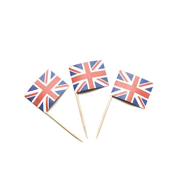 UK Flag Cocktail Picks 24pcs per Pack