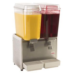 Cold beverage dispenser - Two bowl