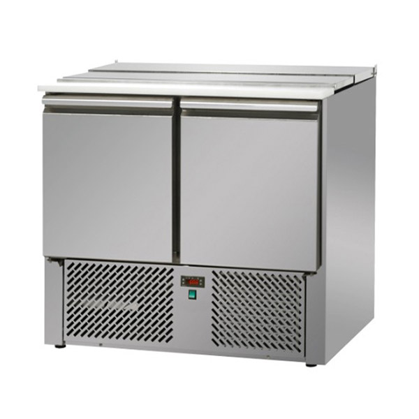 2 Doors Saladette with Stainless Steel