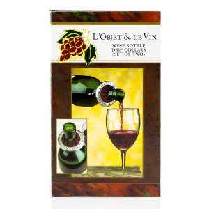 L'Objet & Le Vin Wine Bottle Drip Collars (Set of 2)