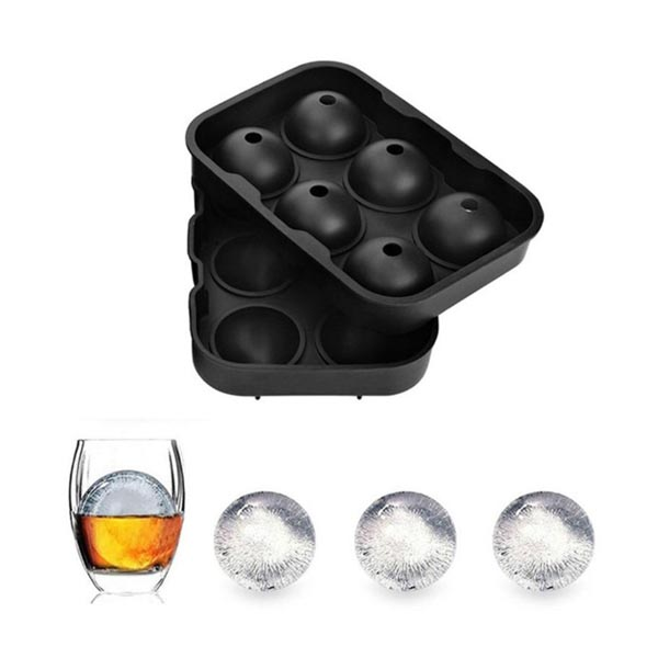 Rubber 6 Balls Silicone Ice Mold