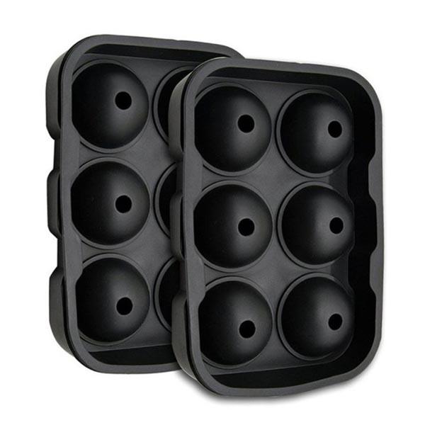 Rubber 6 Balls Silicone Ice Mold