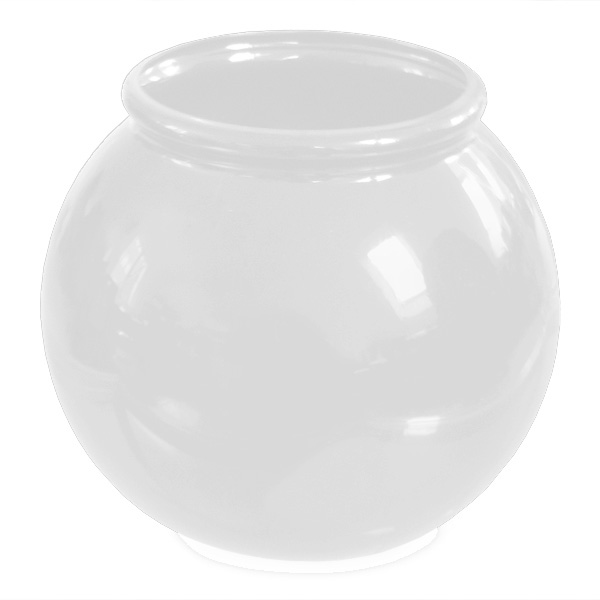 Plastic Fish Bowl White Acrylic 12 x 17 cm