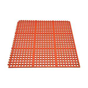 Terracotta Rubber Interlocking Floor Mat 91cm x 91cm
