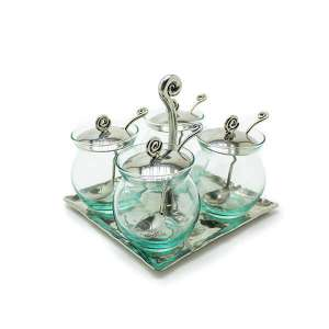 Bowl Style Condiment Container Set