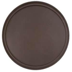 45cm Brown Round Tray Fibre Glass