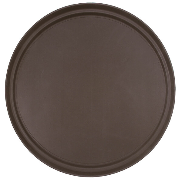 45cm Brown Round Tray Fibre Glass
