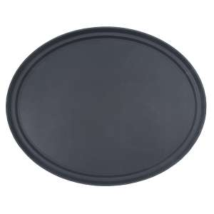 68cm Black Oval Tray Fibre Glass