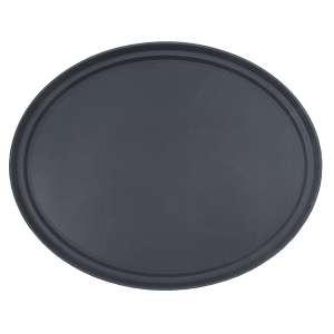 68cm Black Oval Tray Fibre Glass