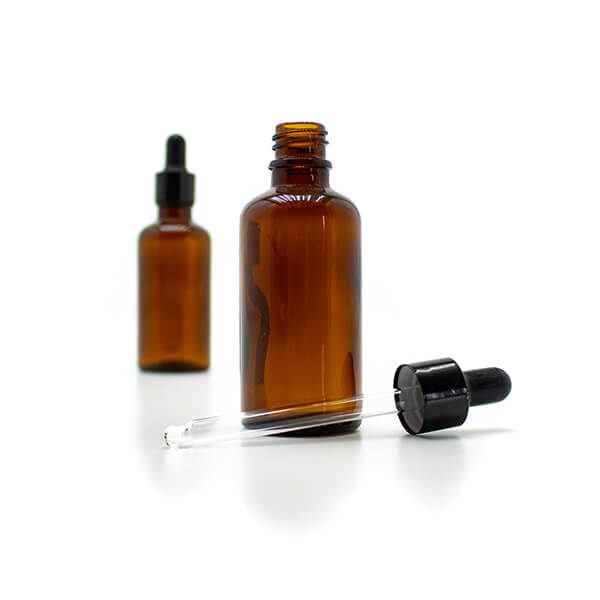 Amber Glass Bottle with Pipette 60ml