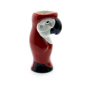 Maroon Parrot Tiki Mug Ceramic