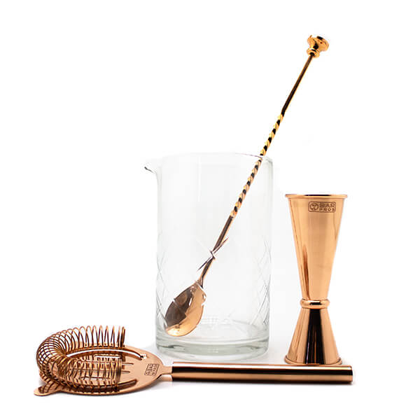 Barpros Copper & Mixing Glass Gift Set