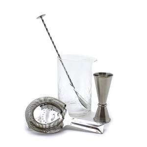 Stainless Steel & Mixing Glass Gift Set