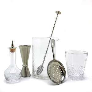 Diamond Mixing Glass Gift Set