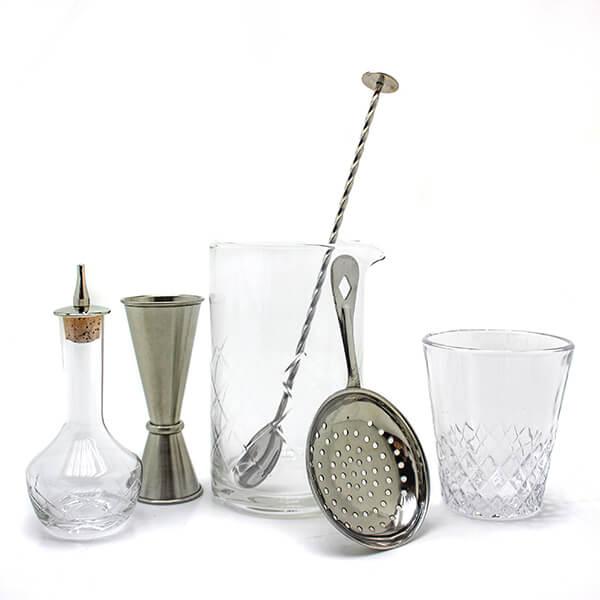 Diamond Mixing Glass Gift Set