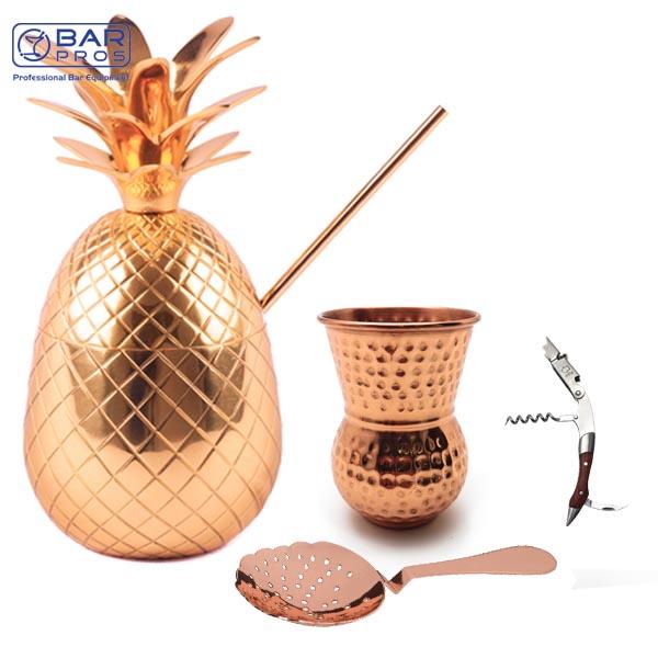 Copper Drinkware Set