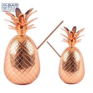 Copper Pineapple Set of 2