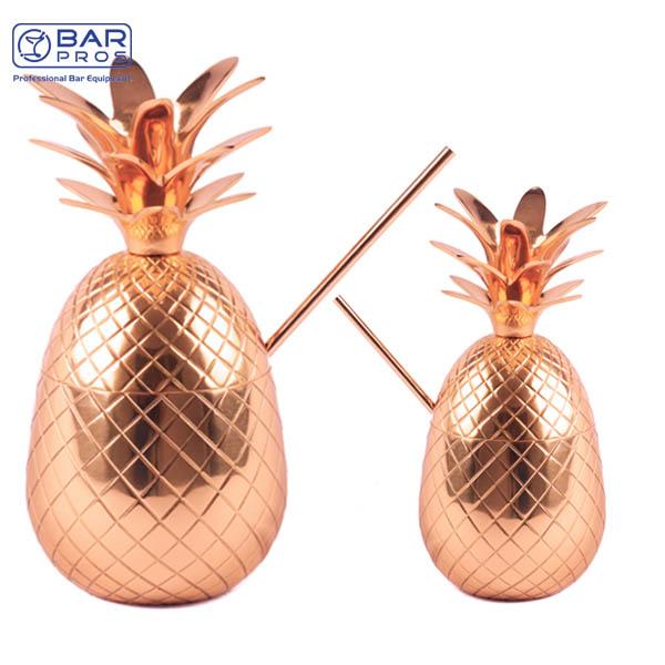 Copper Pineapple Set of 2