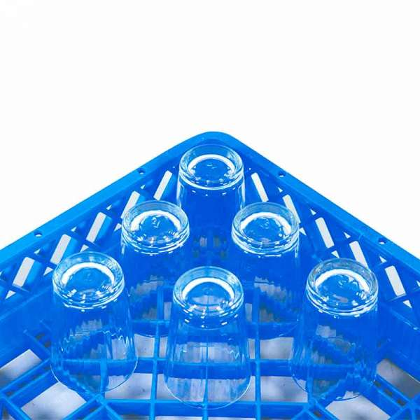 Regular Glass Rack - Blue 50x50x10cm
